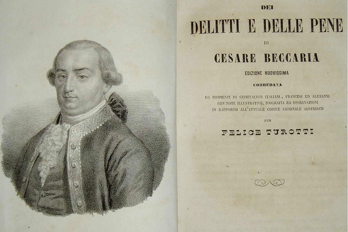 Dei delitti e delle pene di Cesare Beccaria (in pillole)